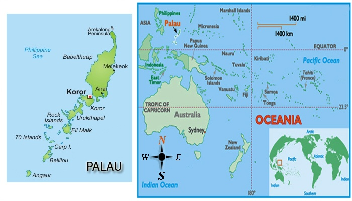 Palau Historical World Class Diving MaduroDive Blog - Palau map